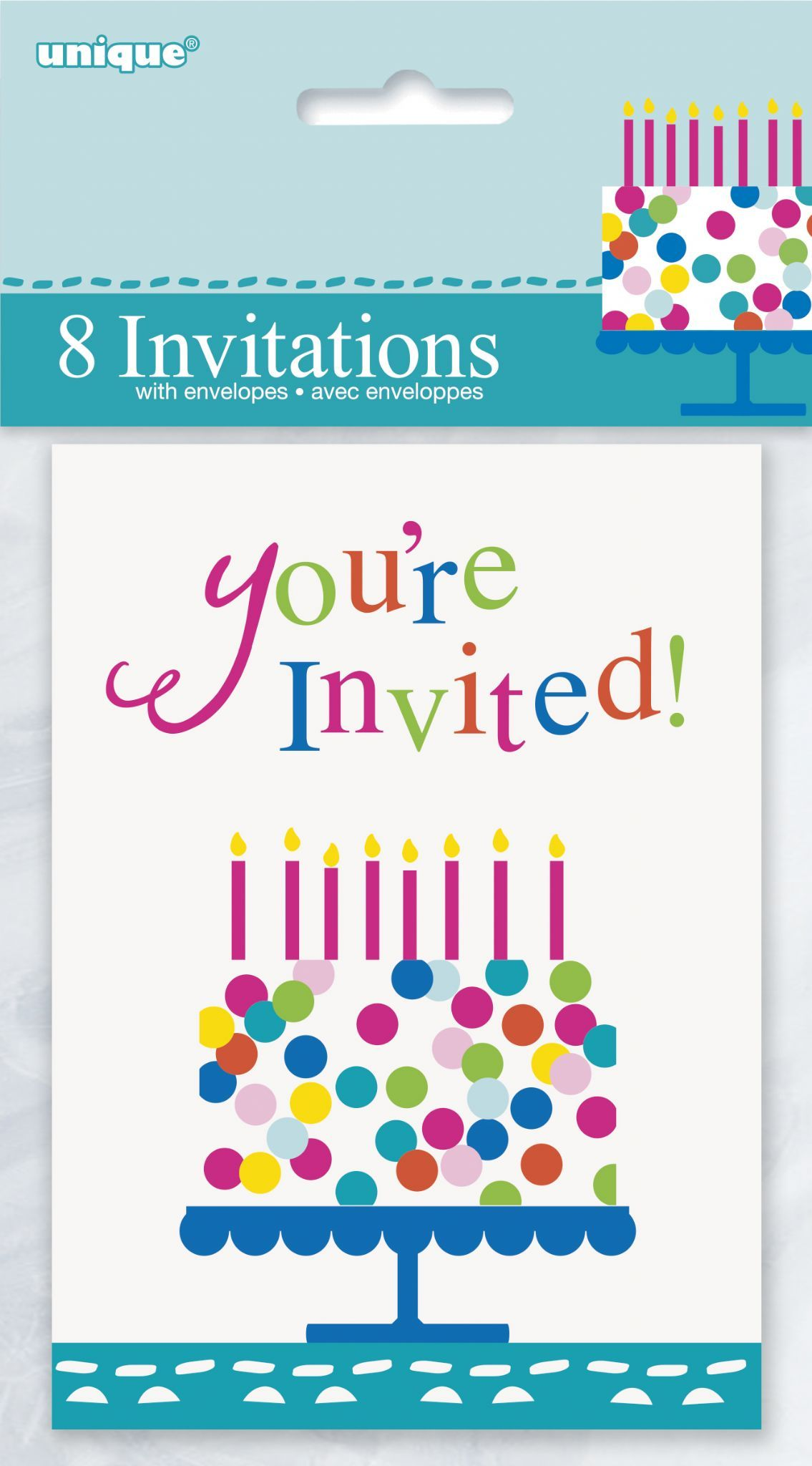 Confetti Cake Happy Birthday Invitations 8 s